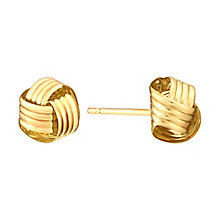 9ct Yellow Gold Knot Stud Earrings - Product number 3058522