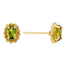 9ct Yellow Gold & Peridot Rope Detail Stud Earrings - Product number 3058689