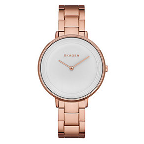 Skagen Ladies' Ditte Rose Gold Tone Bracelet Watch - Product number 3060578