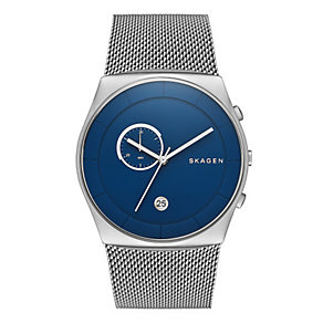 Skagen Men's Havene Stainless Steel Mesh Strap Watch - Product number 3060624