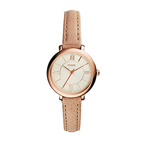Fossil Jacqueline ladies' rose gold-plated watch - Product number 3060748