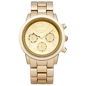 Lipsy Ladies' Yellow Gold Tone Bracelet Watch - Product number 3060756