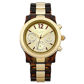 Lipsy Ladies' Tortoiseshell & Gold Tone Bracelet Watch - Product number 3060772