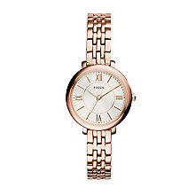 Fossil Jacqueline ladies' rose gold-tone bracelet watch - Product number 3060845