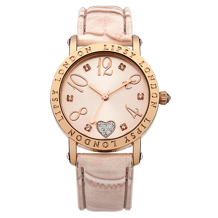 Lipsy Ladies' Rose Gold Tone & Pink Strap Watch - Product number 3060861