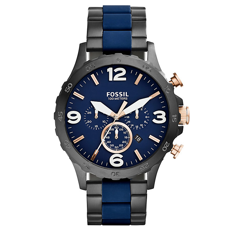 Fossil Nate men's stainless steel two colour bracelet watch - Product number 3061000