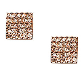 Fossil rose gold-plated stone set vintage stud earrings - Product number 3061019