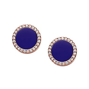 Fossil ladies' rose gold-plated stone set earrings - Product number 3061043