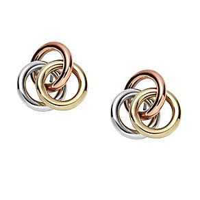 Fossil tricolour classic stud earrings - Product number 3061108
