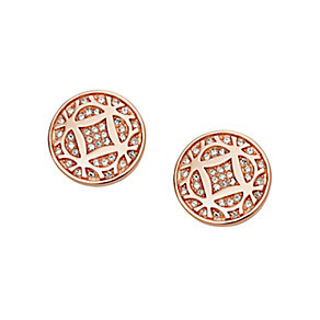 Fossil rose gold-tone vintage stud earrings - Product number 3061132