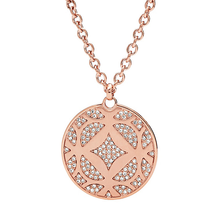 Fossil rose gold-tone stone set vintage necklace - Product number 3061159