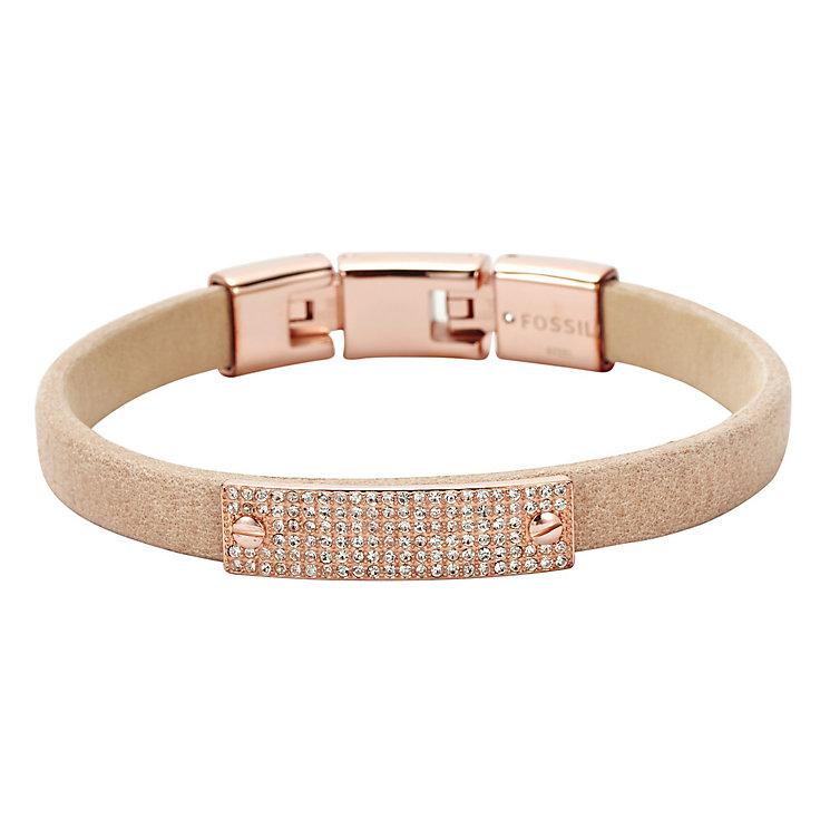 Fossil ladies' rose gold-plated & leather vintage bracelet - Product number 3061191