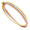9ct Three Colour Gold Russian Hinged Bangle - Product number 3061299