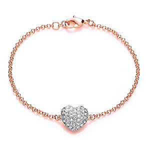 Buckley Rose Gold Plated Crystal Heart Bracelet - Product number 3061566