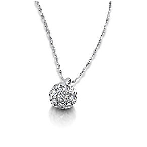 Buckley Rhodium Plated Cubic Zirconia Ball Pendant - Product number 3061655