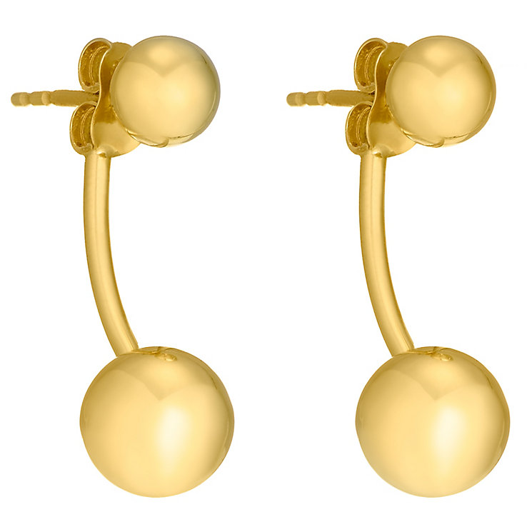 9ct yellow gold double ball earrings - Product number 3061698