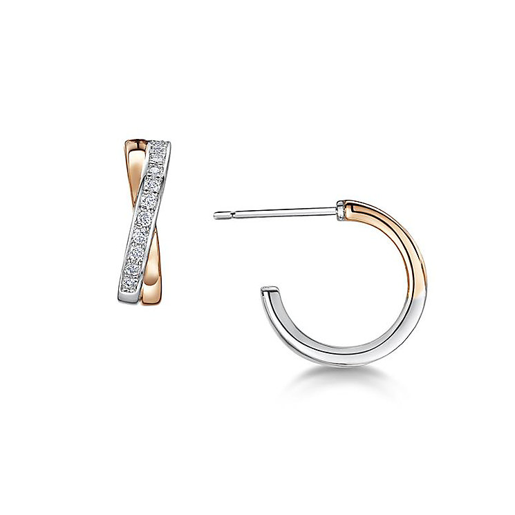 Buckley London Rose Gold Plate & Cubic Zirconia Earrings - Product number 3061744