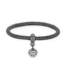 Buckley London Haematite Stone Set Heart Charm Mesh Bracelet - Product number 3061779