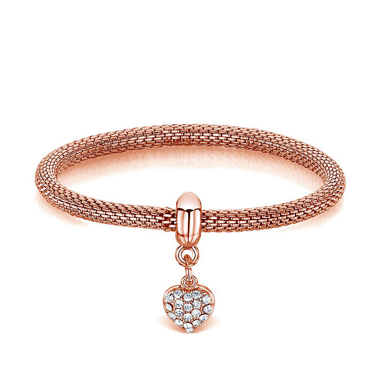 Buckley Rose Gold-Plated Heart Charm Mesh Bracelet - Product number 3061787
