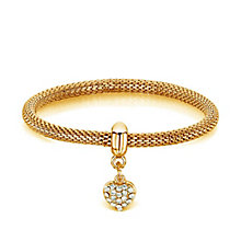Buckley Gold-Plated Stone Set Heart Charm Mesh Bracelet - Product number 3061795