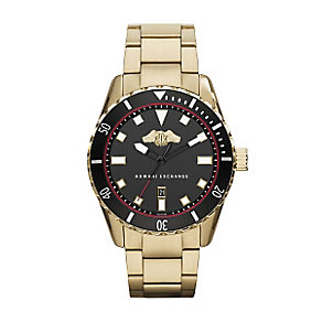 Armani Exchange Men's Yellow Gold Plated Bracelet Watch - Product number 3062066