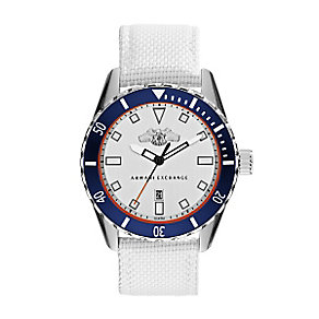 Armani Exchange Men's Stainless Steel & White Nylon Watch - Product number 3062090