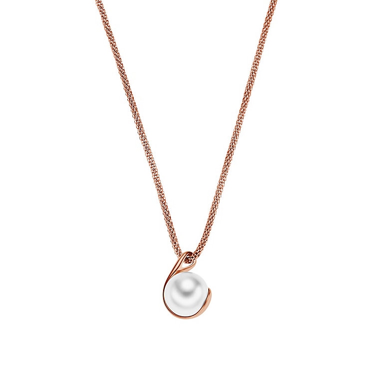 Skagen Agenthe Rose Gold Tone Pearl Pendant - Product number 3062171