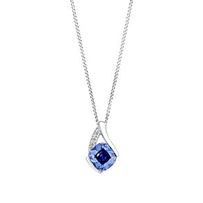 9ct white gold cubic zirconia pendant - Product number 3062570
