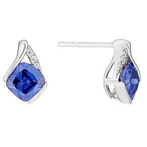 9ct white gold cubic zirconia earrings - Product number 3062619