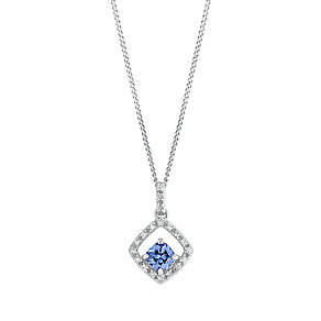 9ct white gold cubic zirconia pendant - Product number 3063070