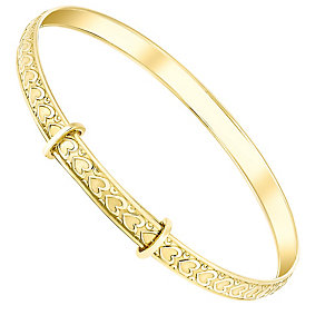 9ct gold heart children's bangle - Product number 3063224