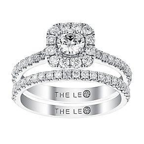 Leo Diamond 18ct white gold 1ct diamond bridal set - Product number 3065456