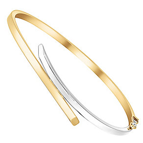 9ct two colour gold crossover bangle - Product number 3068307