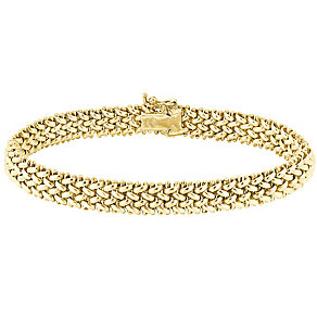9ct gold 7mm multilink bracelet - Product number 3068447