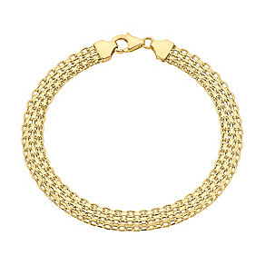 9ct gold interlink bracelet - Product number 3068501