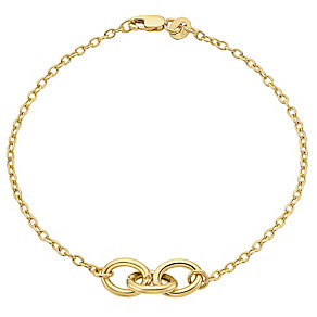 9ct gold trio oval link bracelet - Product number 3068528