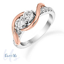 Ever Us 14ct White & Rose Gold 3/4 Carat Diamond Ring - Product number 3070727
