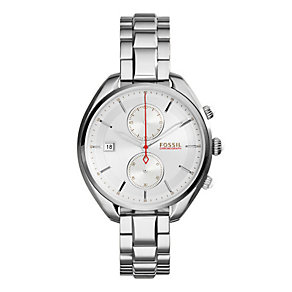 Fossil Ladies' Land Racer Silver Tone Bracelet Watch - Product number 3070891