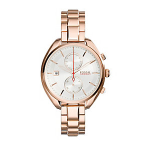 Fossil Ladies' Land Racer Rose Gold Tone Bracelet Watch - Product number 3070905