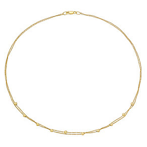 9ct gold two row ball necklet - Product number 3071006