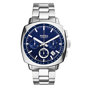 Fossil Men's Haywood Blue Dial & Stainless Steel Watch - Product number 3071235
