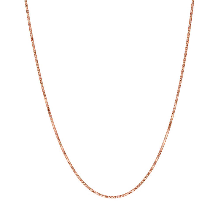9ct rose gold adjustable 20 inch spiga chain - Product number 3071251