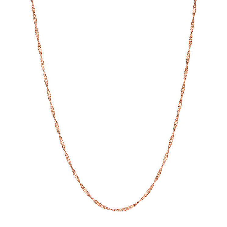 9ct rose gold adjustable 24 inch singapore chain - Product number 3071308