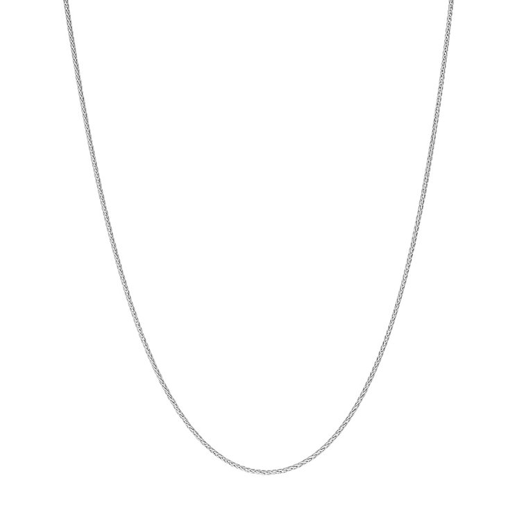 9ct white gold adjustable 24 inch spiga chain - Product number 3071324