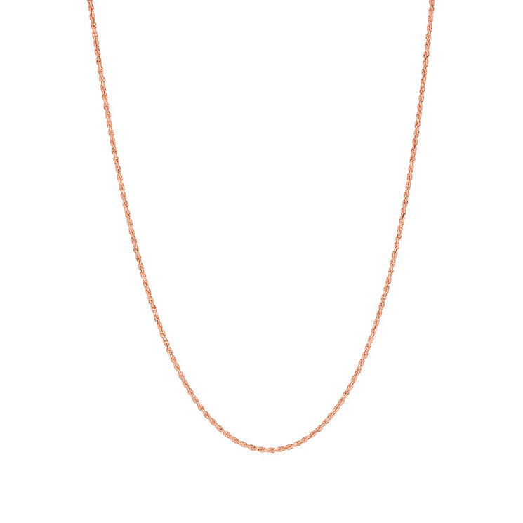 9ct rose gold adjustable 20 inch rope chain - Product number 3071332