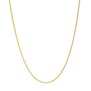 9ct gold adjustable 24 inch spiga chain - Product number 3071375
