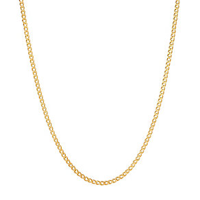 9ct gold 18 inch solid curb chain - Product number 3071383
