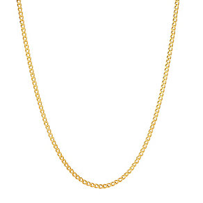 9ct gold 24 inch solid curb chain - Product number 3071391
