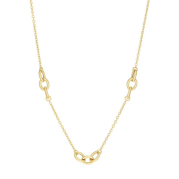 9ct gold trio oval multilink necklet - Product number 3071413