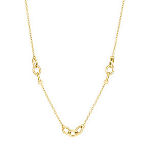 9ct gold trio oval multilink necklet - Product number 3071413